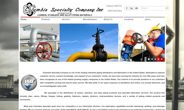 Columbia Specialty Company, Inc.