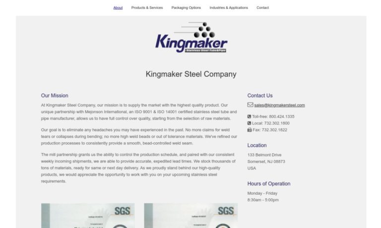 Kingmaker Steel Co., Inc.