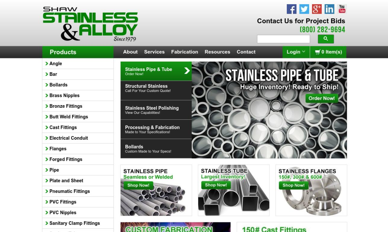 Shaw Stainless & Alloy Piping